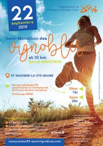 Semi-Marathon des Vignobles 2019 @ St Maximin